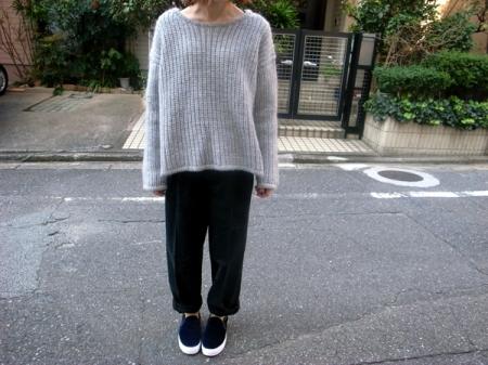 Crew neck wide knit