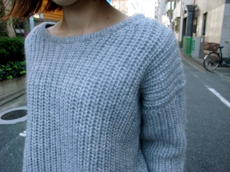 Crew neck wide knit